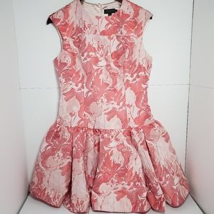 Ted baker brocade pink dropped waist dress US 8